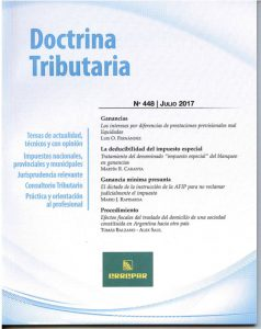 Doctrina Tributaria